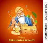 illustration of happy gurpurab  ... | Shutterstock .eps vector #1228391107