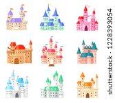 cartoon castle vector fairytale ... | Shutterstock .eps vector #1228393054