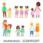 siblings vector children... | Shutterstock .eps vector #1228393207