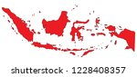 indonesia map vector | Shutterstock .eps vector #1228408357