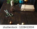 christmas ornaments with gift... | Shutterstock . vector #1228413034