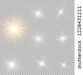 glow light effect. vector...   Shutterstock .eps vector #1228431211
