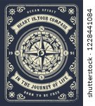 vintage nautical concept with... | Shutterstock .eps vector #1228441084