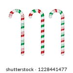 set of candy canes on white... | Shutterstock .eps vector #1228441477