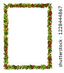 christmas decorations withholly ... | Shutterstock .eps vector #1228444867