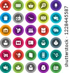 white solid icon set  scoop... | Shutterstock .eps vector #1228445587