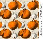 Seamless Pattern  Mandarins Or...