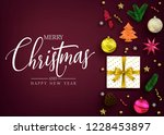 top view realistic holiday... | Shutterstock .eps vector #1228453897