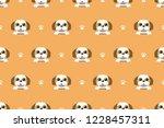 vector cartoon character shih... | Shutterstock .eps vector #1228457311