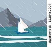 vector picture yacht regatta... | Shutterstock .eps vector #1228462204