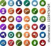 color back flat icon set  ... | Shutterstock .eps vector #1228476424