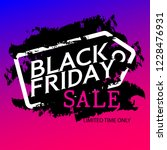 black friday sale banner with... | Shutterstock .eps vector #1228476931