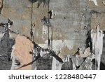 Abandoned Concrete Wall With...