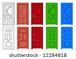 door   Shutterstock .eps vector #12284818