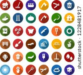 color back flat icon set  ... | Shutterstock .eps vector #1228481917