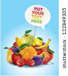 fruits composition with text... | Shutterstock .eps vector #122849305