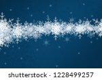 2d illustration. snowflakes on... | Shutterstock . vector #1228499257