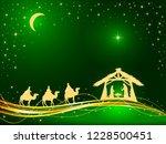 christian christmas theme.... | Shutterstock .eps vector #1228500451