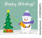 new year and christmas card.... | Shutterstock .eps vector #1228506091