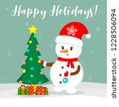 new year and christmas card.... | Shutterstock .eps vector #1228506094