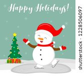 new year and christmas card.... | Shutterstock .eps vector #1228506097