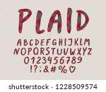alphabet plaid design. hand... | Shutterstock .eps vector #1228509574