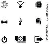 computer icon set   Shutterstock .eps vector #1228510537