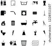 bathroom icon set   Shutterstock .eps vector #1228511107
