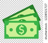 dollar currency banknote icon... | Shutterstock .eps vector #1228521727