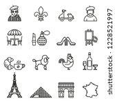 france travel icon set. line... | Shutterstock .eps vector #1228521997