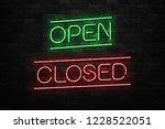 vector realistic isolated neon... | Shutterstock .eps vector #1228522051
