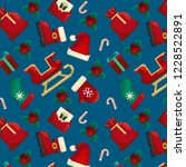 pixel pattern with christmas... | Shutterstock .eps vector #1228522891