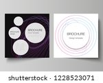 vector editable layout of two... | Shutterstock .eps vector #1228523071
