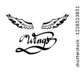 angel wings lettering vector | Shutterstock .eps vector #1228523851