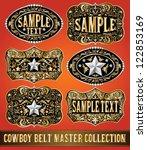 cowboy belt buckle vector... | Shutterstock .eps vector #122853169