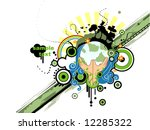 save the earth design   vector