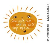 vector motivational card with... | Shutterstock .eps vector #1228532614