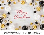 christmas card greetings on...   Shutterstock . vector #1228535437