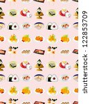 Seamless Japanese Food Pattern...