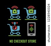 vector no checkout store or... | Shutterstock .eps vector #1228540324