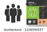 vector people group black...   Shutterstock .eps vector #1228540537