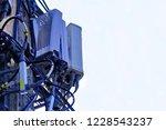 micro cellular 3g  4g  5g. base ... | Shutterstock . vector #1228543237