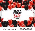 black friday sale banner  black ... | Shutterstock .eps vector #1228543261