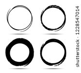 hand drawn circle brush sketch... | Shutterstock . vector #1228547014