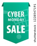 cyber monday text tag ribbon... | Shutterstock .eps vector #1228547191
