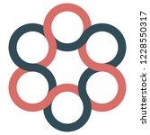 icon logo spinner  interlacing...   Shutterstock .eps vector #1228550317