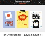 cute characters for patches and ...   Shutterstock .eps vector #1228552354