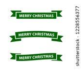 merry chistmas ribbon   Shutterstock .eps vector #1228556377