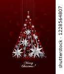 christmas greeting card  with... | Shutterstock .eps vector #1228564807