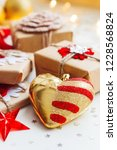christmas and new year... | Shutterstock . vector #1228568824